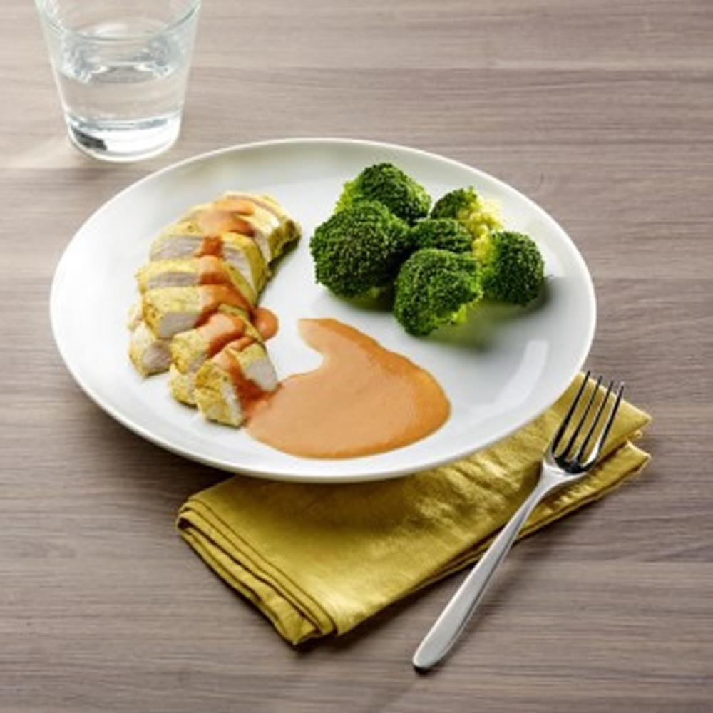 Escalope de poulet au curry