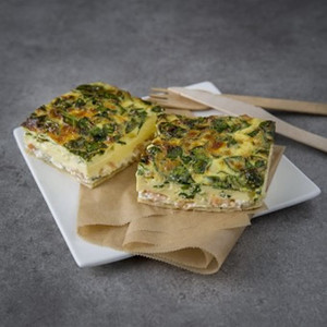 Quiche saumon-épinards