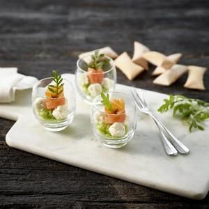 Verrines au saumon et concombre