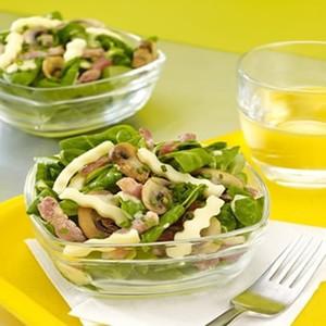 Salade paysanne aux champignons