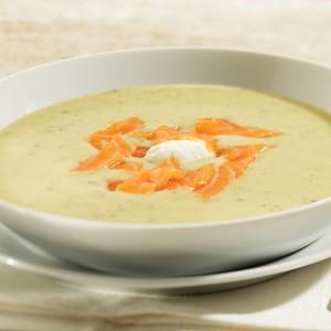 Soupe de brocoli et saumon