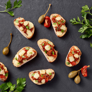Bruschetta's met tomaat